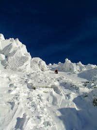Climbing neer the top