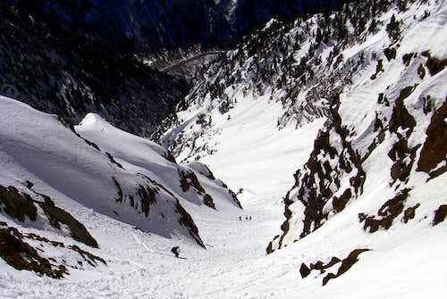 Skiing Tanners Gulch