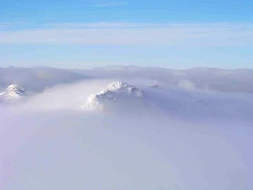 Ocean of clouds, you can see...