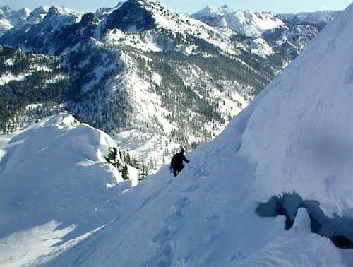 The traverse ridge from the...