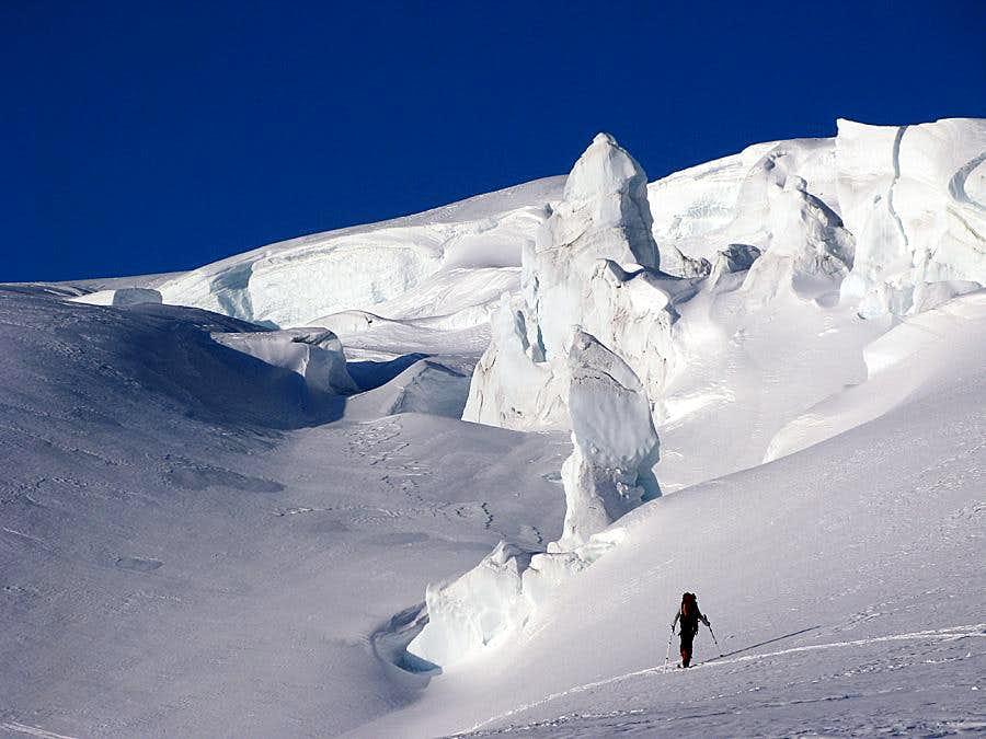 Through the glacier