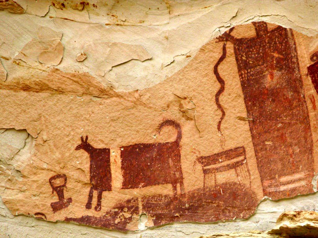 Temple Mountain Petroglyphs