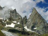 The ridge of Aiguille...