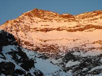 Last sunrays on Lagginhorn in Winter, Solo