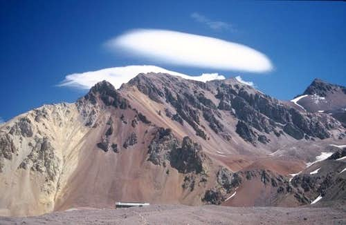 Lenticular clouds above the...