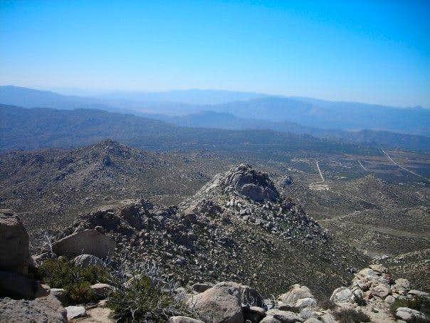View south from San Ysidro Peak