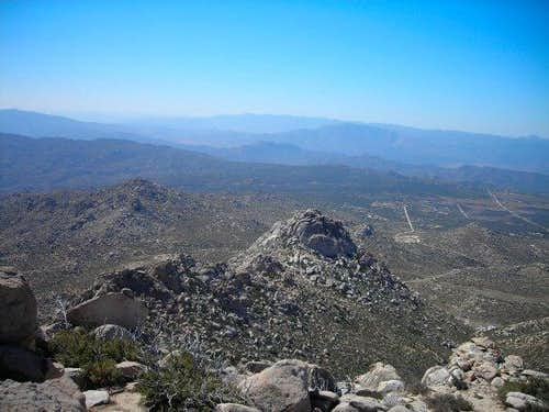 View south from San Ysidro Peak