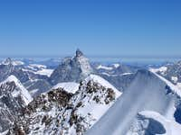 Breathtaking view of the Lyskamm ridge