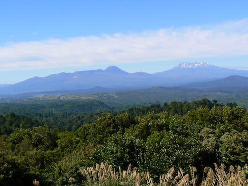 Volcanoes from SH 47