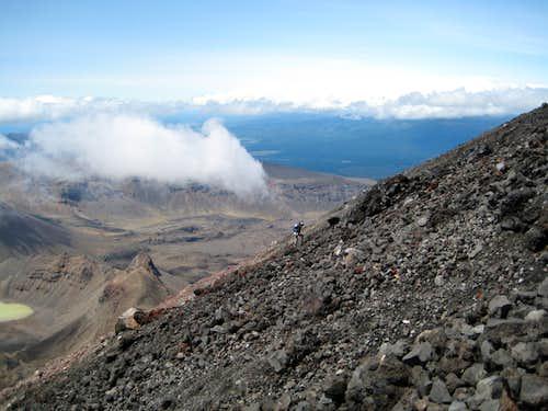 Climbing Ngaurahoe I