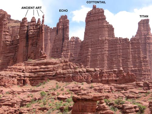 Western Section of the Fisher Towers