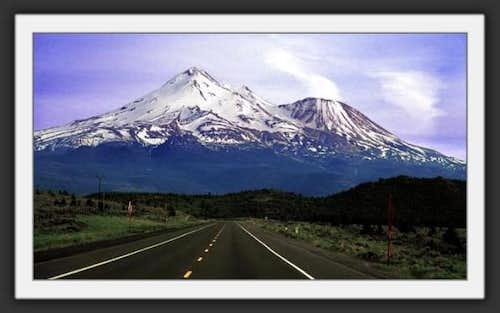 Mts Shasta and Shastina from...