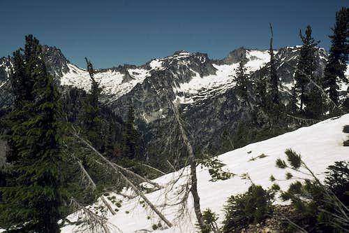 Stuart Range from the West Ridge of Navaho