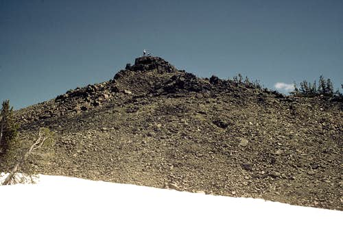 Final approach to Navaho Summit