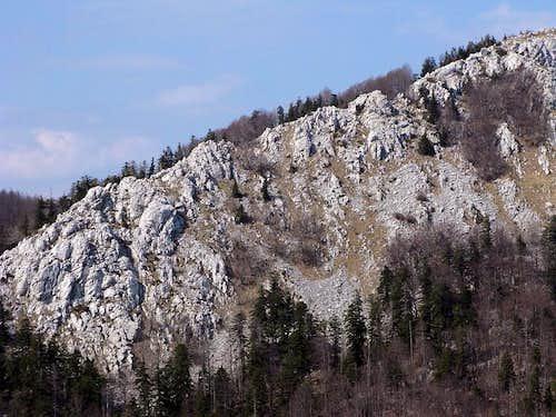 Crni Vrh rocky ridge