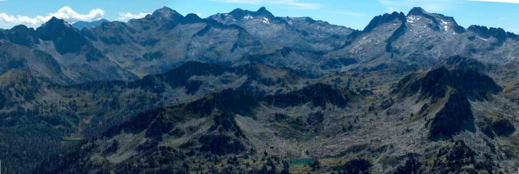 View to the peaks of Campbiel, Long, and Néouvielle