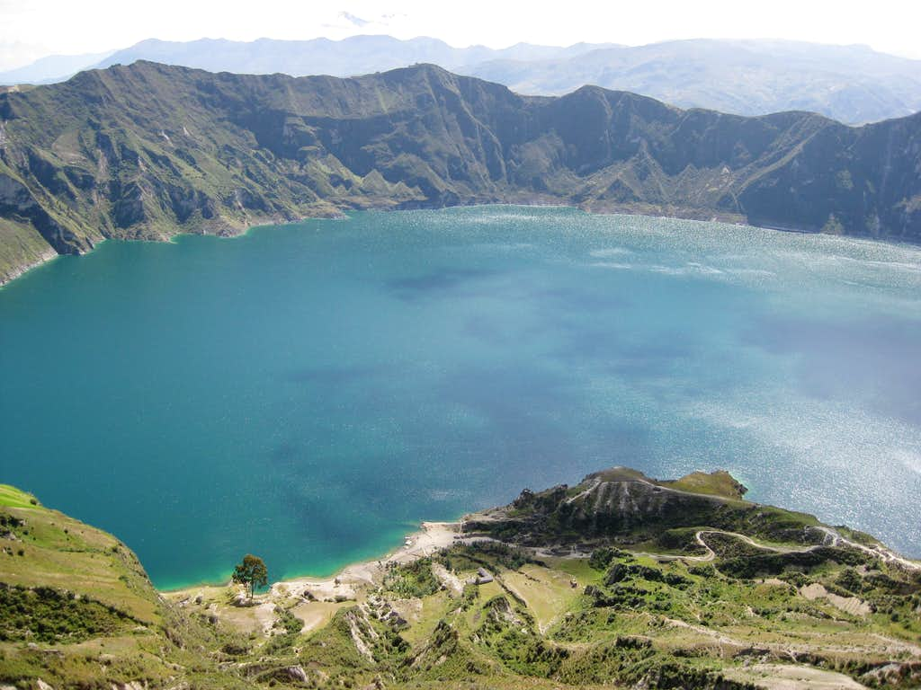 The first view of the Laguna de Quilotoa