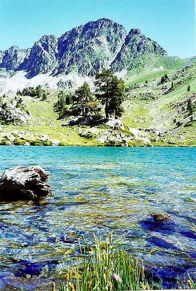 The Bastan lakes and Portarras peak