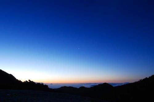 Venus in dawn from Yakushima