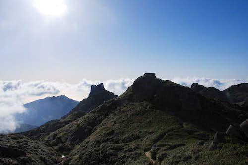 Southern Yakushima peaks and Pacific at the horizon
