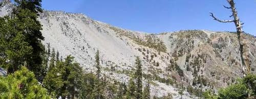 A panoramic view of the Baldy...