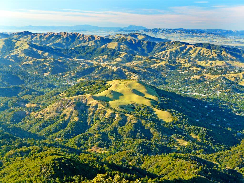 North from Mt. Tam summit