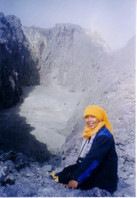 Mt Merapi craters