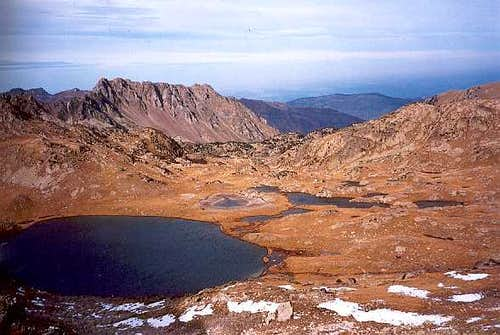 Lac de la Hourquette from bastanet Pass