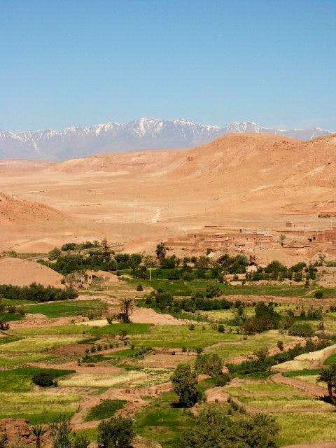 Jbel Toubkal range and oasis...