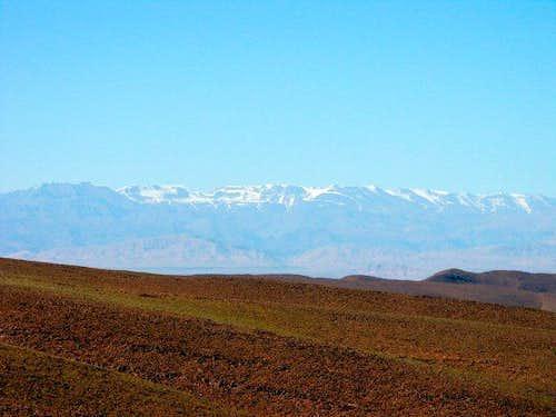 Toubkal range seen from...