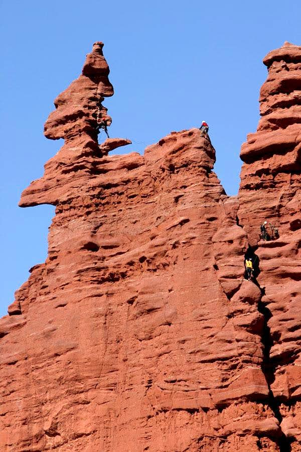 Climbers on Ancient Art