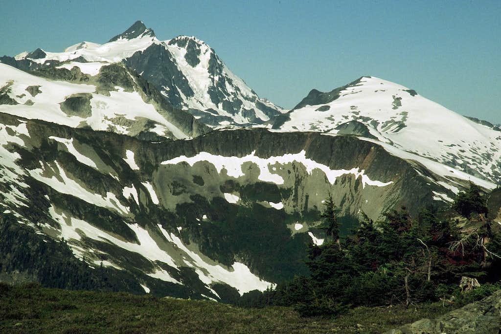 Mt. Shuksan and Ruth Mtn. from Tapto Lakes Basin