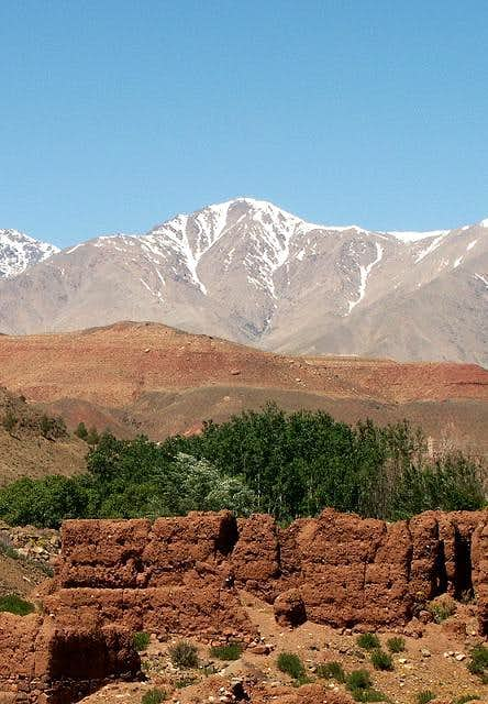 Jbel Toubkal - South face...