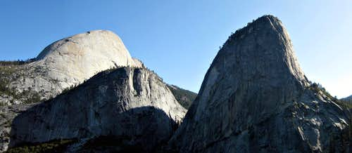 Liberty Cap, Broderick, and Half Dome