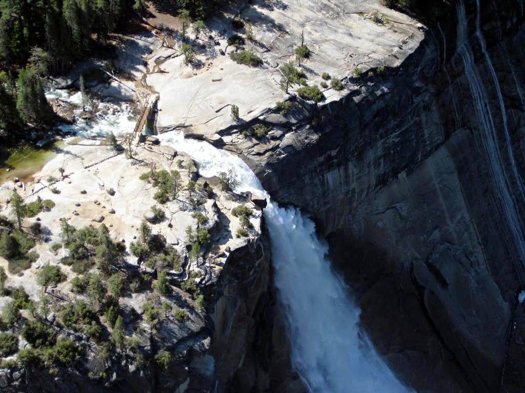 Nevada Falls from summit of Liberty Cap