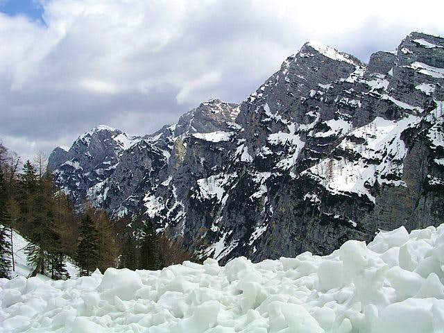 Mountains above the Krma...
