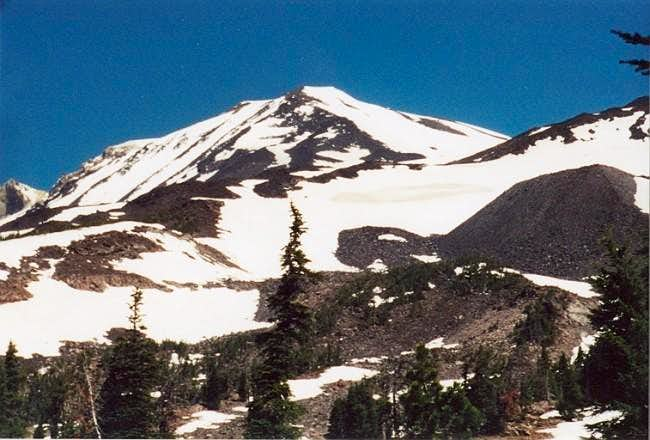 Nearing timberline on July...