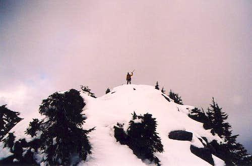 Klenke atop Bald Mountain