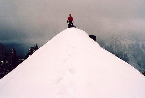 Collins atop Bald Mountain