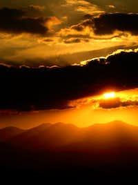 sunset in  stretch of dena