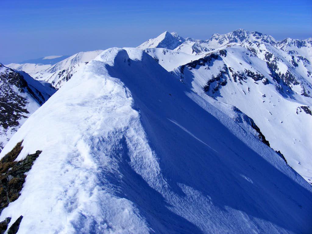 Vaiuga peak, Fagaras mt. Romania