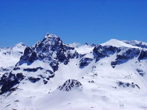 The Peak of Anayet with snow...