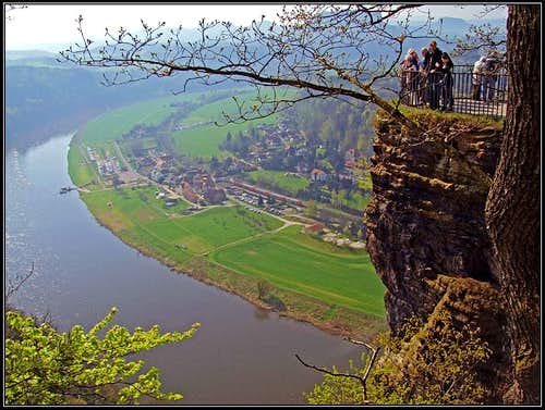 Elbe view from the upper Bastei lookout point
