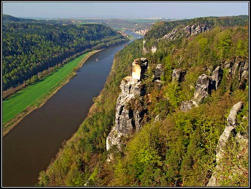 Elbe river from Bastei