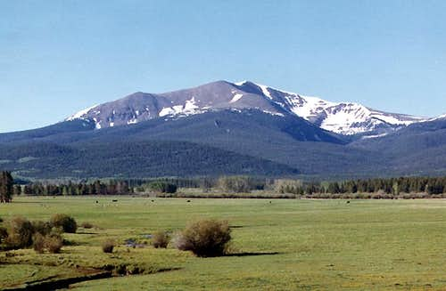 Parkview Mountain from the north