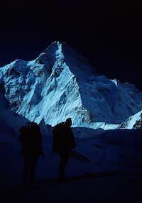 K2 North Ridge in Morning