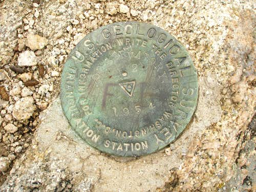 Observatory Rock Summit Marker