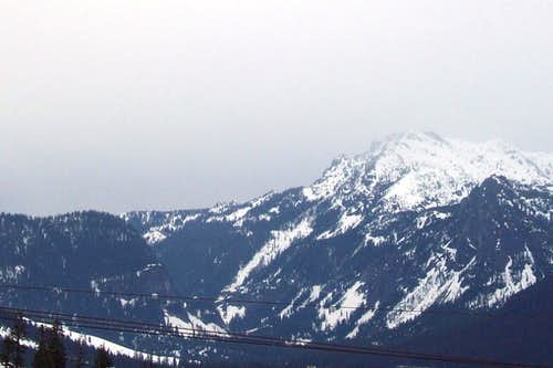 Closeup of Snoqualmie Mountain
