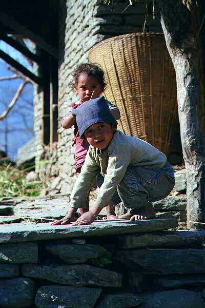 Local nepalese children in...