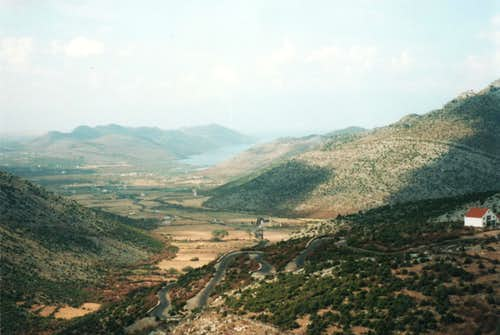 Lake Shkodra from Hoti -Cem Gorge Road